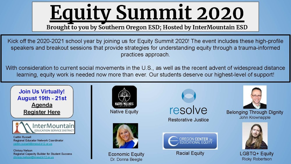 ESDs Offer Equity Summit 2020