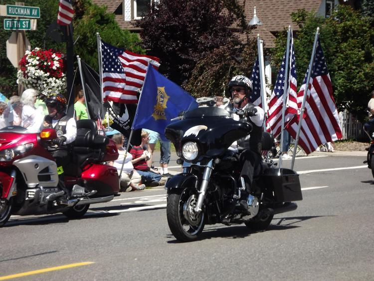 motorcycle driving in parade
